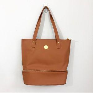 Joy Mangano | Large Tawny Brown Tote Purse Bag